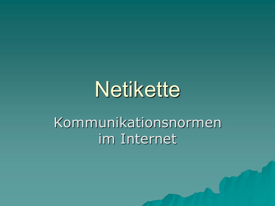 Kommunikationsnormen im Internet