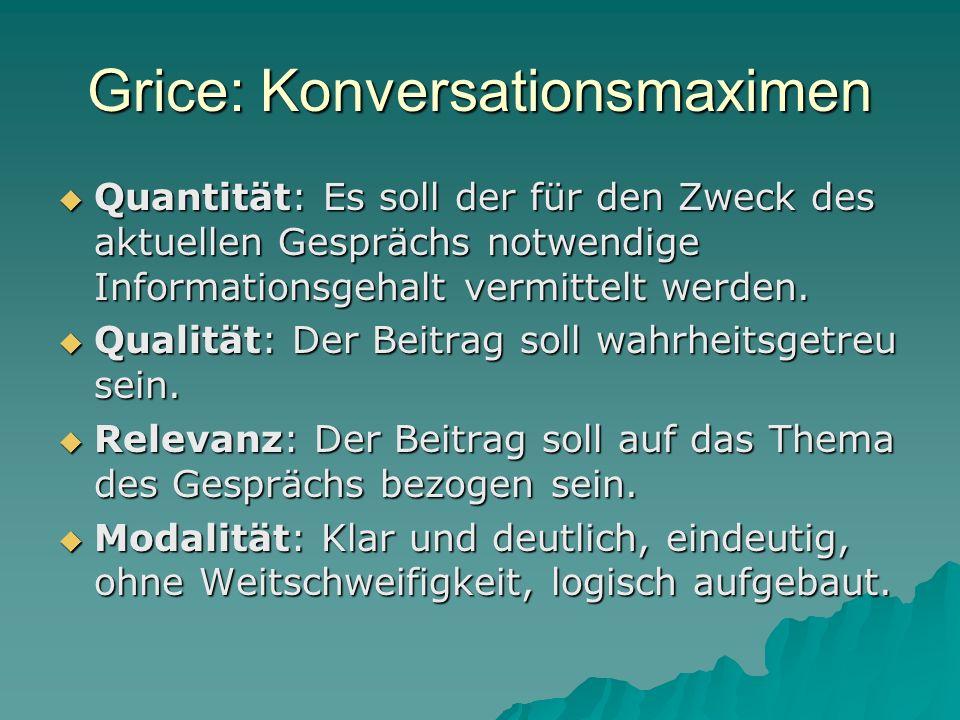 Grice: Konversationsmaximen