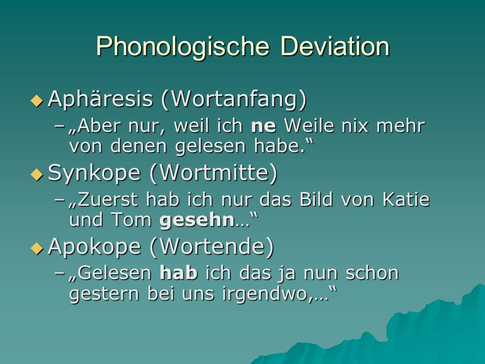 Phonologische Deviation