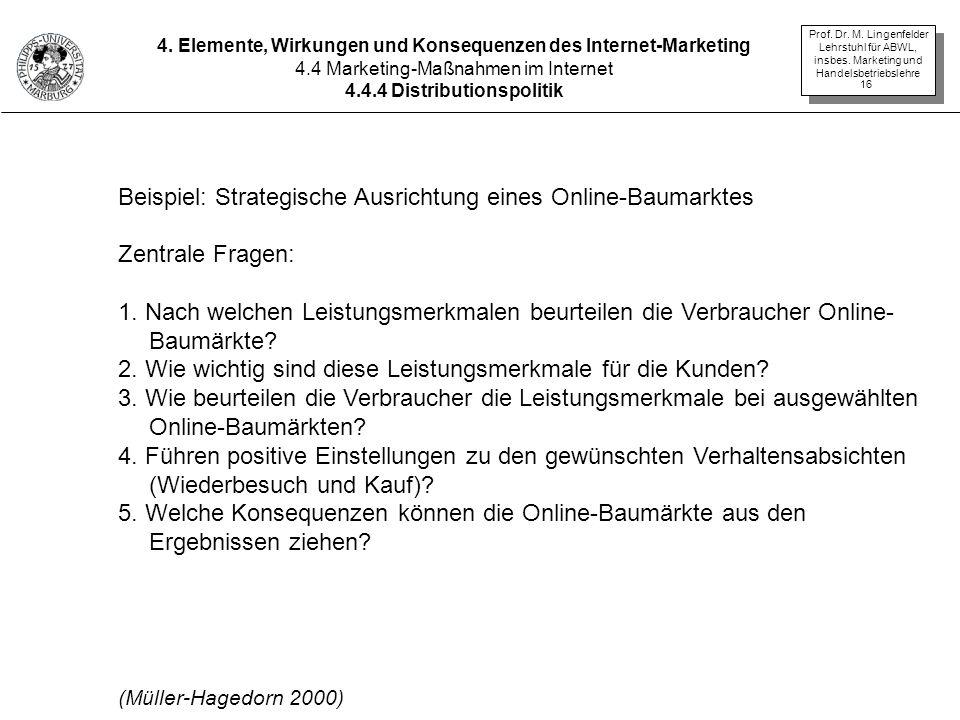 Beispiel: Strategische Ausrichtung eines Online-Baumarktes