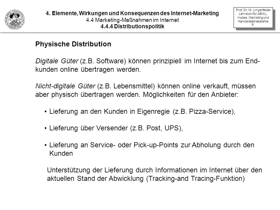 Physische Distribution