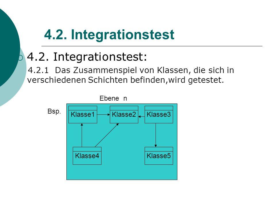 4.2. Integrationstest 4.2. Integrationstest: