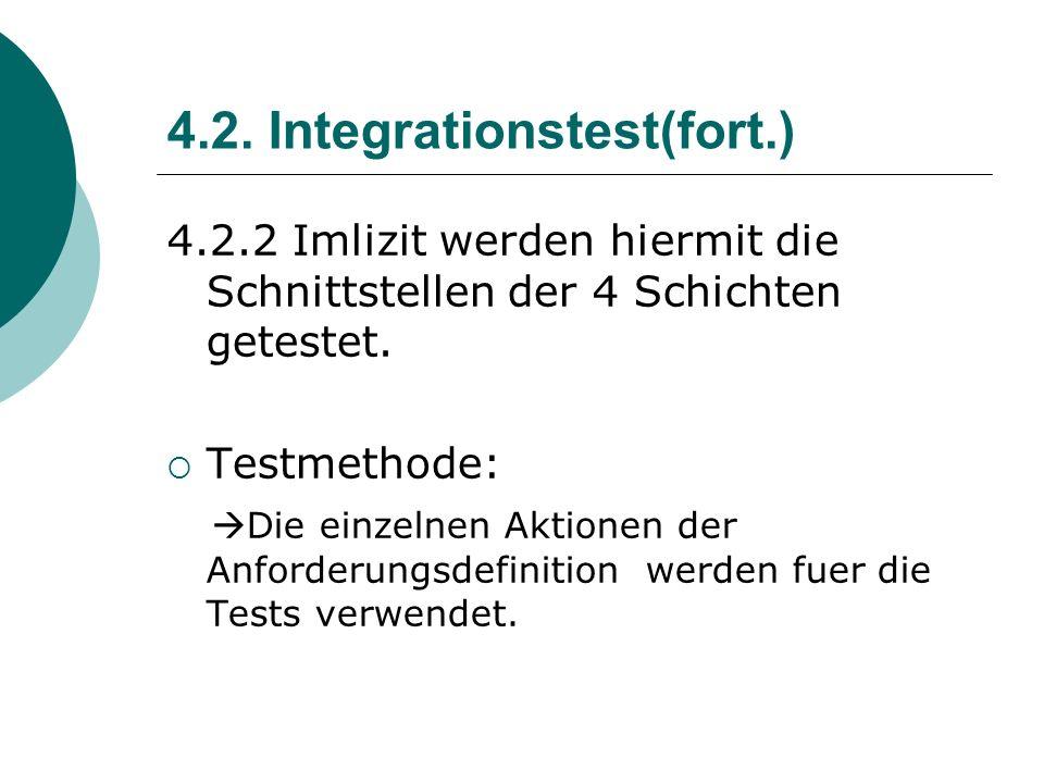 4.2. Integrationstest(fort.)