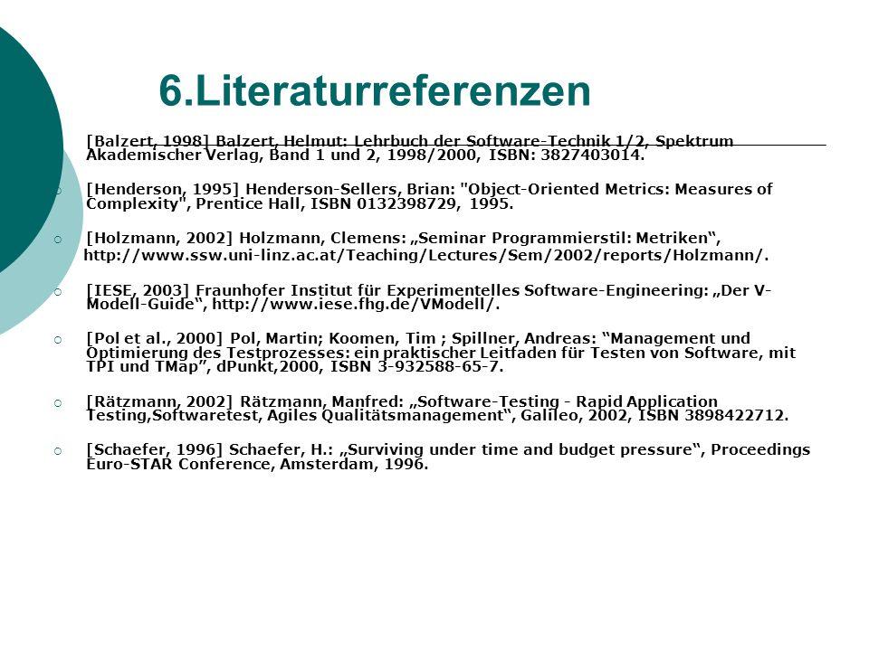 6.Literaturreferenzen
