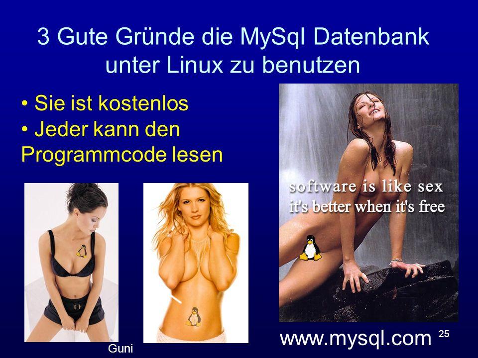 3 Gute Gründe die MySql Datenbank unter Linux zu benutzen