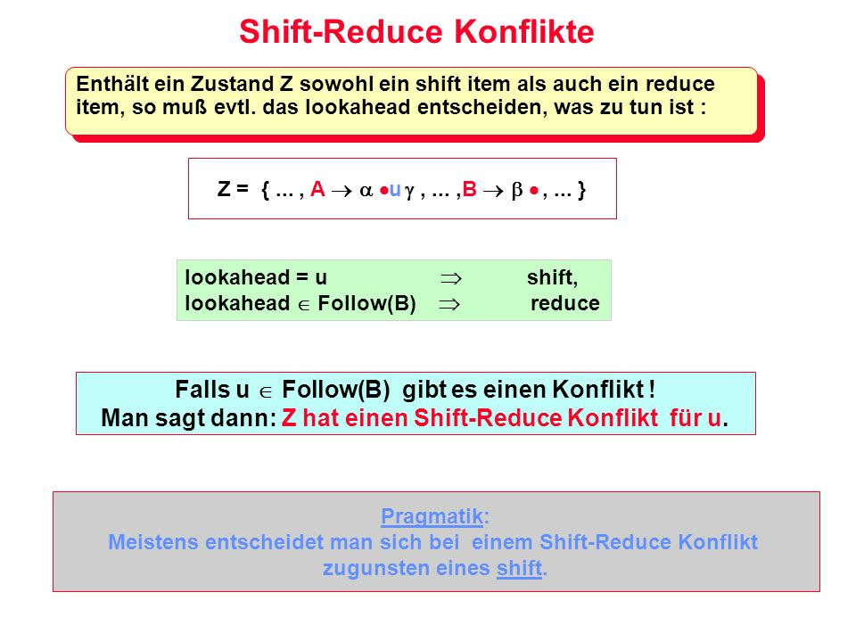 Shift-Reduce Konflikte