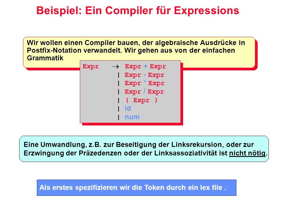 Beispiel: Ein Compiler für Expressions