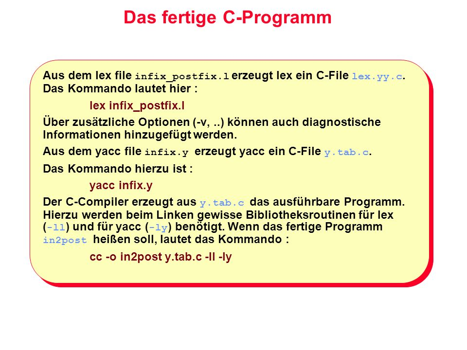 Das fertige C-Programm