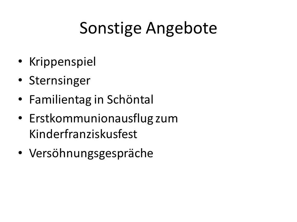 Sonstige Angebote Krippenspiel Sternsinger Familientag in Schöntal