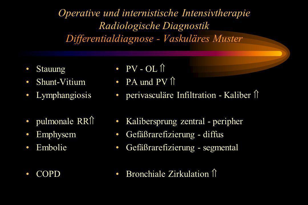 Operative und internistische Intensivtherapie Radiologische Diagnostik Differentialdiagnose - Vaskuläres Muster