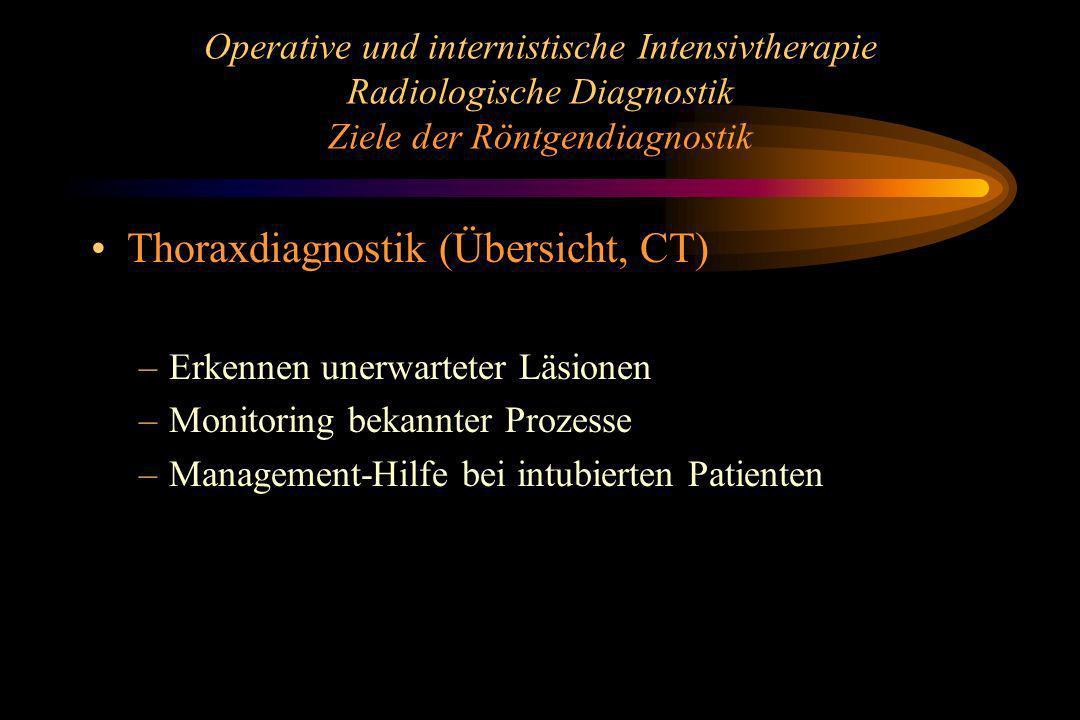 Thoraxdiagnostik (Übersicht, CT)