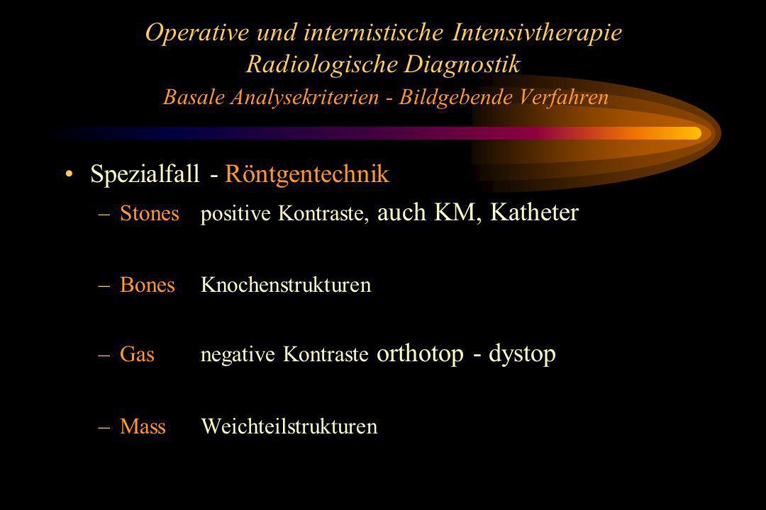 Spezialfall - Röntgentechnik