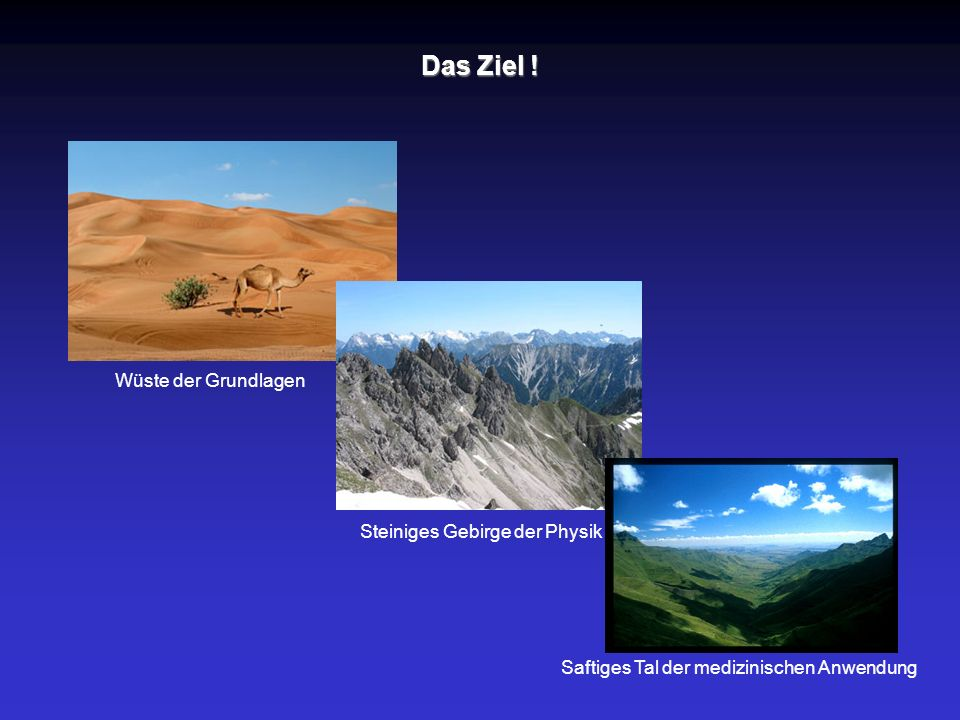 Das Ziel ! Wüste der Grundlagen Steiniges Gebirge der Physik