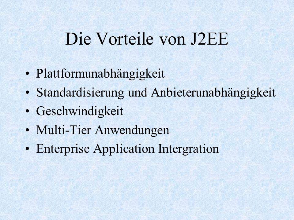 Die Vorteile von J2EE Plattformunabhängigkeit