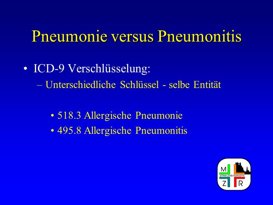 Pneumonie versus Pneumonitis