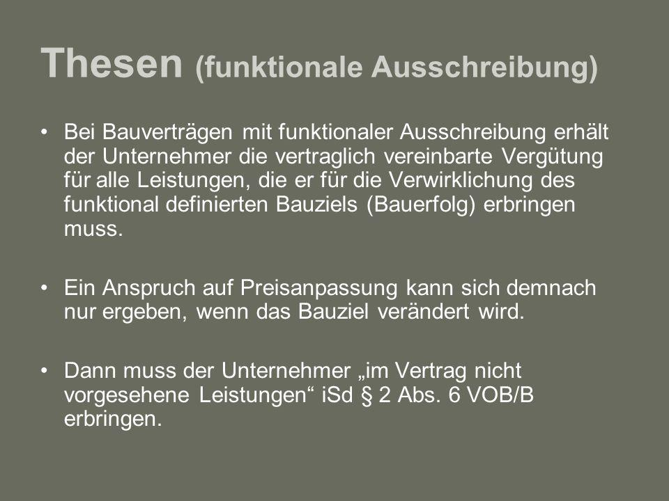 Thesen (funktionale Ausschreibung)