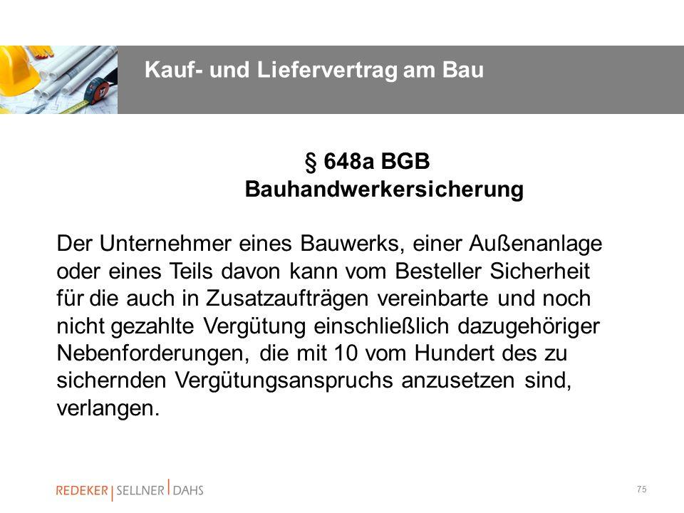 § 648a BGB Bauhandwerkersicherung