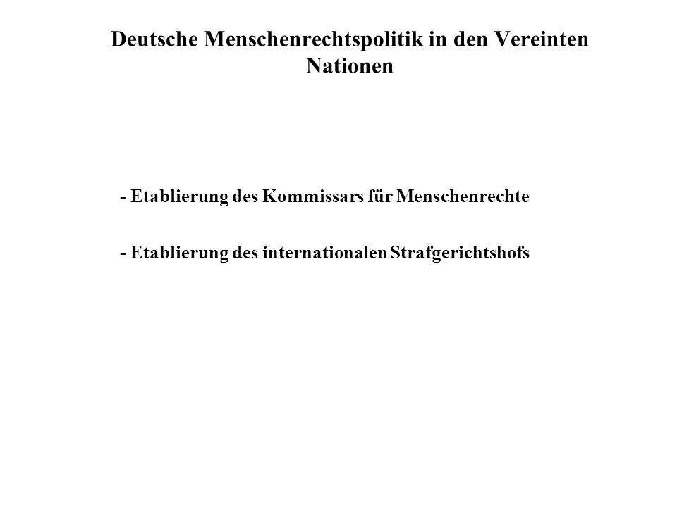 Deutsche Menschenrechtspolitik in den Vereinten Nationen