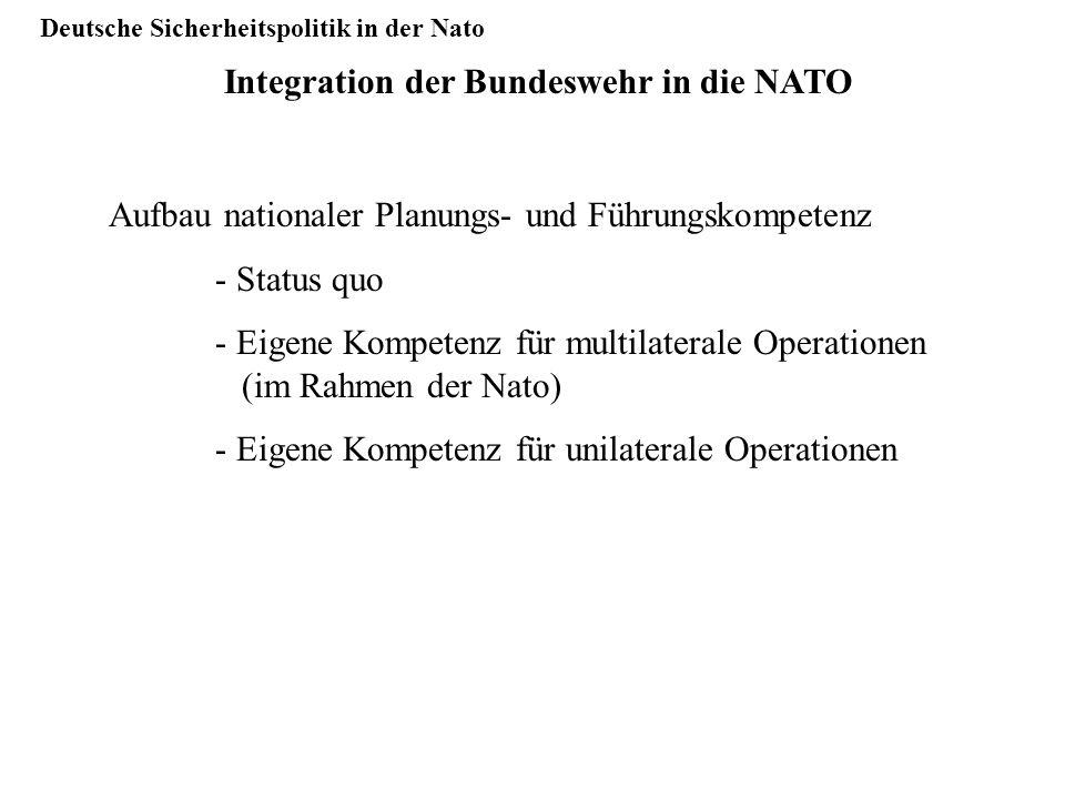 Deutsche Sicherheitspolitik in der Nato