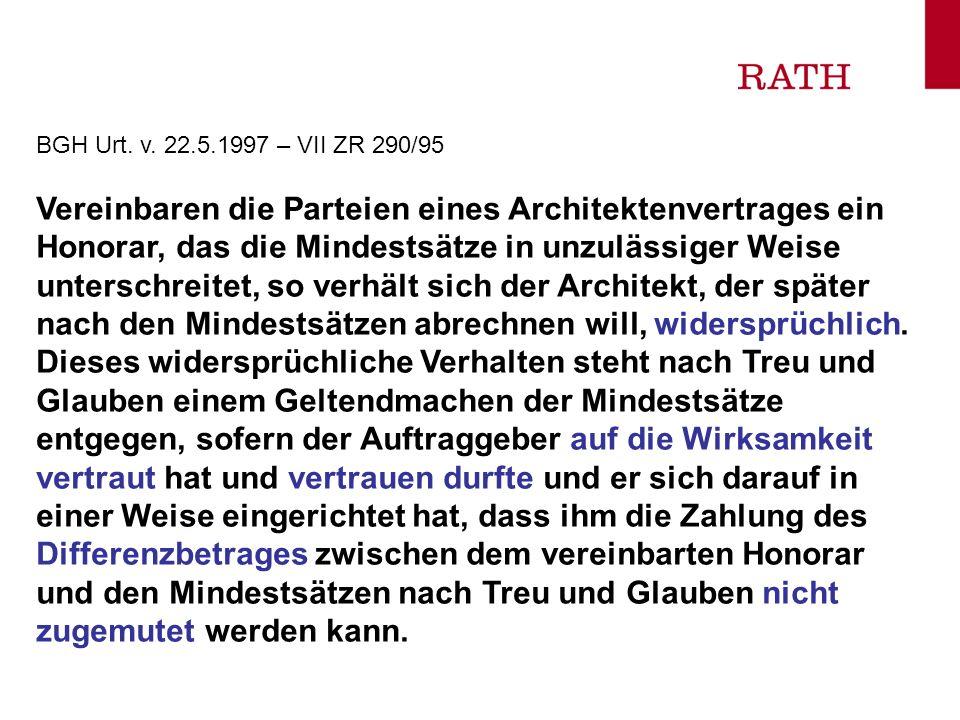 BGH Urt. v. 22.5.1997 – VII ZR 290/95
