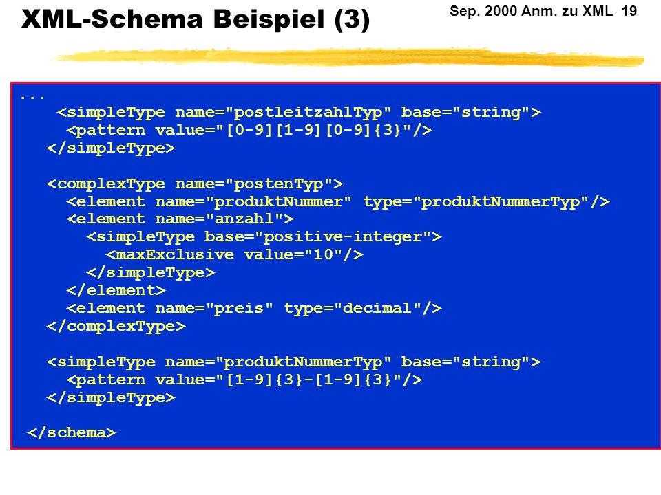 XML-Schema Beispiel (3)