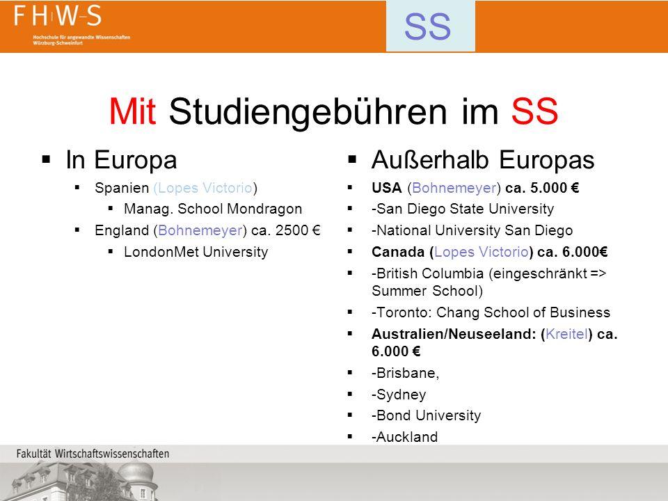 Mit Studiengebühren im SS