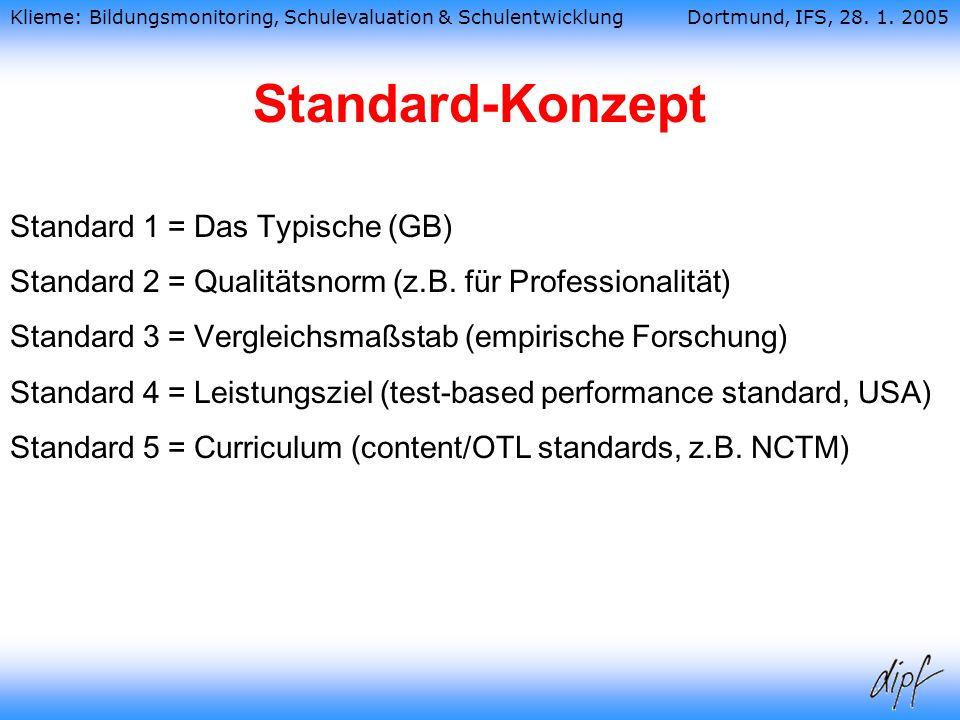Standard-Konzept Standard 1 = Das Typische (GB)