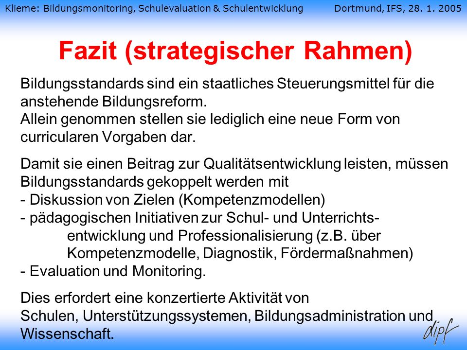 Fazit (strategischer Rahmen)