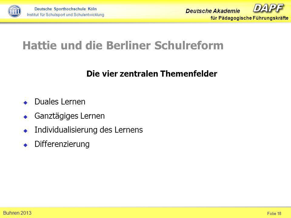 Hattie und die Berliner Schulreform