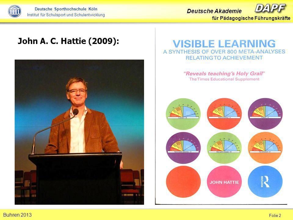 John A. C. Hattie (2009):