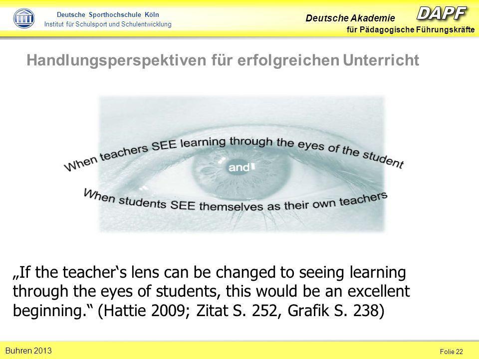 Handlungsperspektiven für erfolgreichen Unterricht
