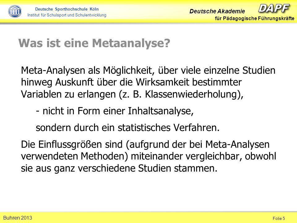 Was ist eine Metaanalyse