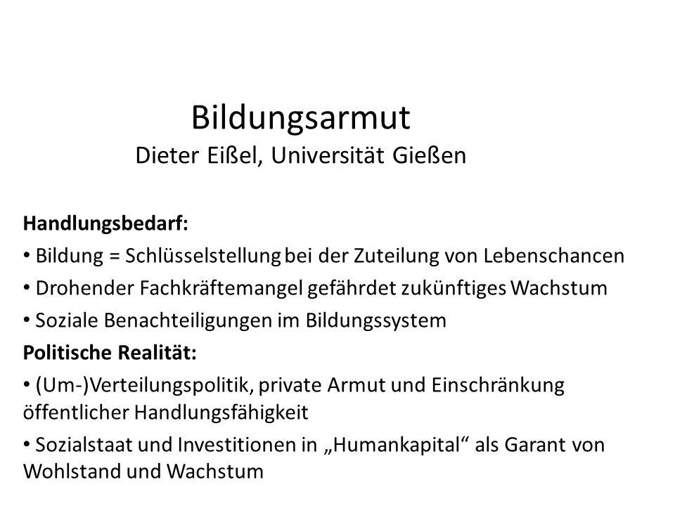 Bildungsarmut Dieter Eißel, Universität Gießen