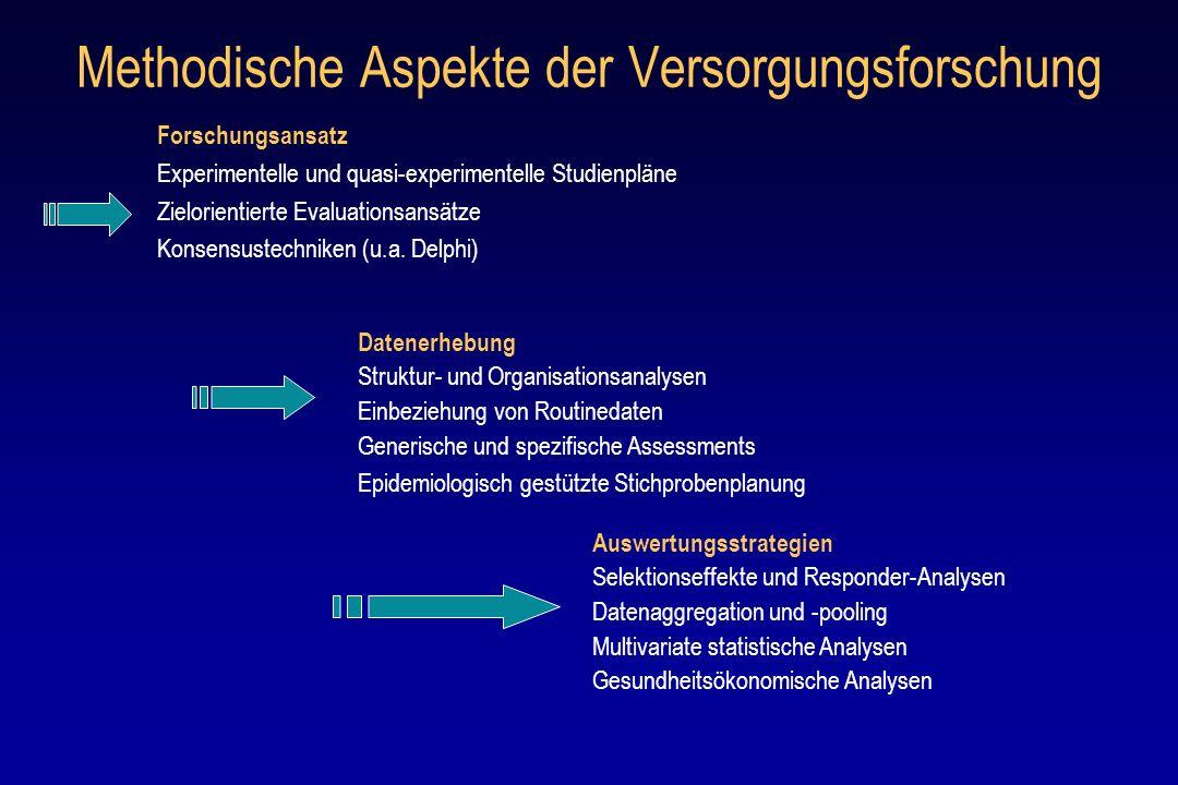 Methodische Aspekte der Versorgungsforschung