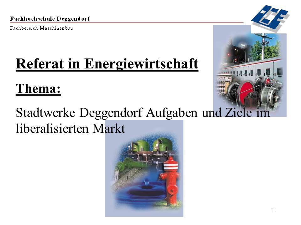 Referat in Energiewirtschaft