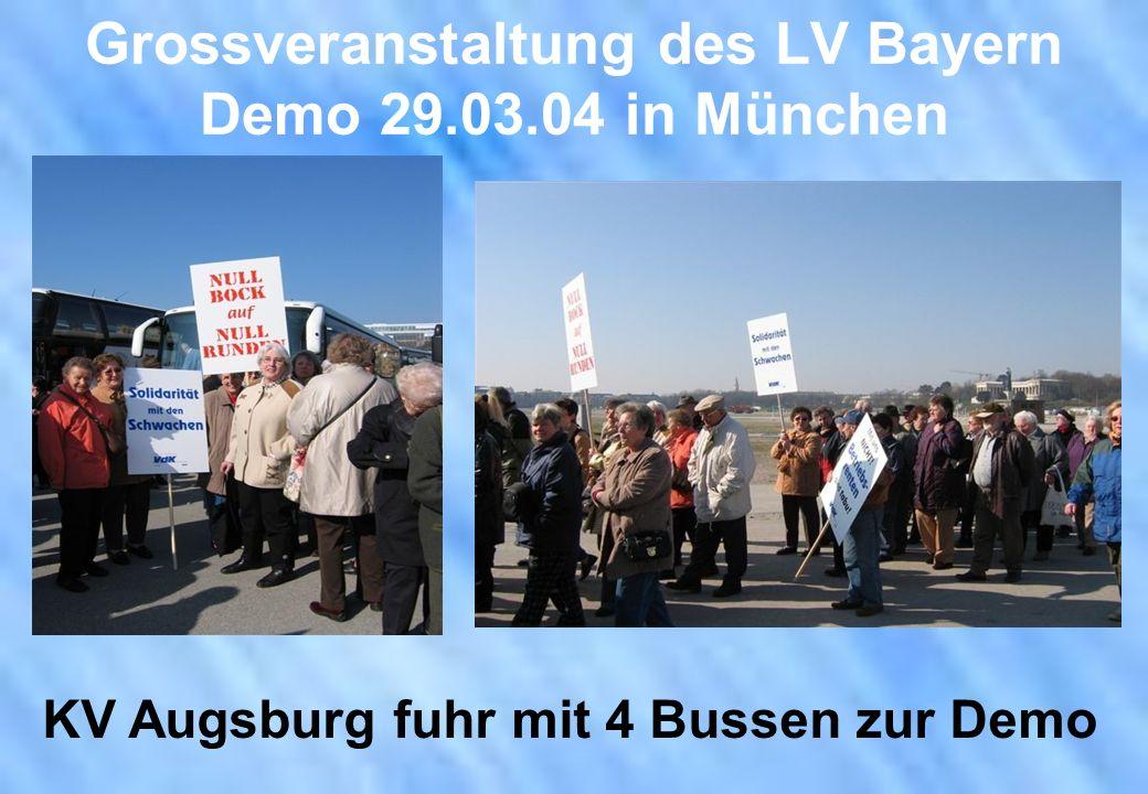 Grossveranstaltung des LV Bayern Demo 29.03.04 in München