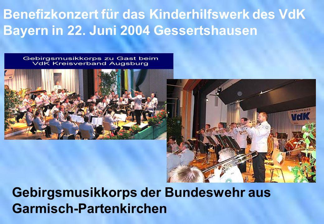 Benefizkonzert für das Kinderhilfswerk des VdK Bayern in 22