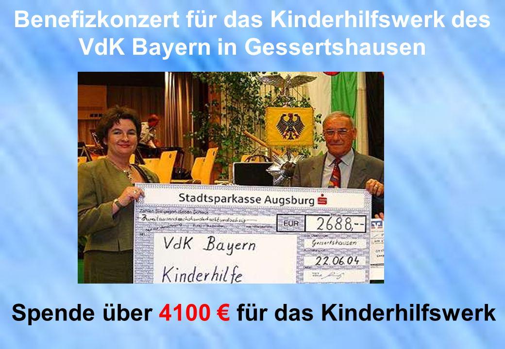 Benefizkonzert für das Kinderhilfswerk des VdK Bayern in Gessertshausen