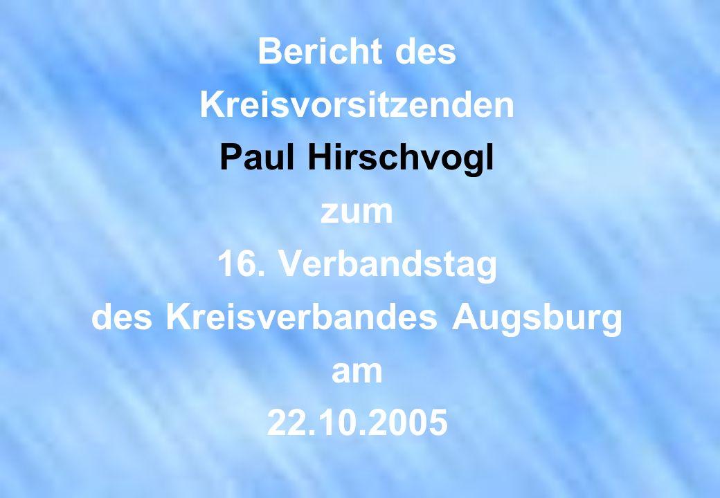 des Kreisverbandes Augsburg
