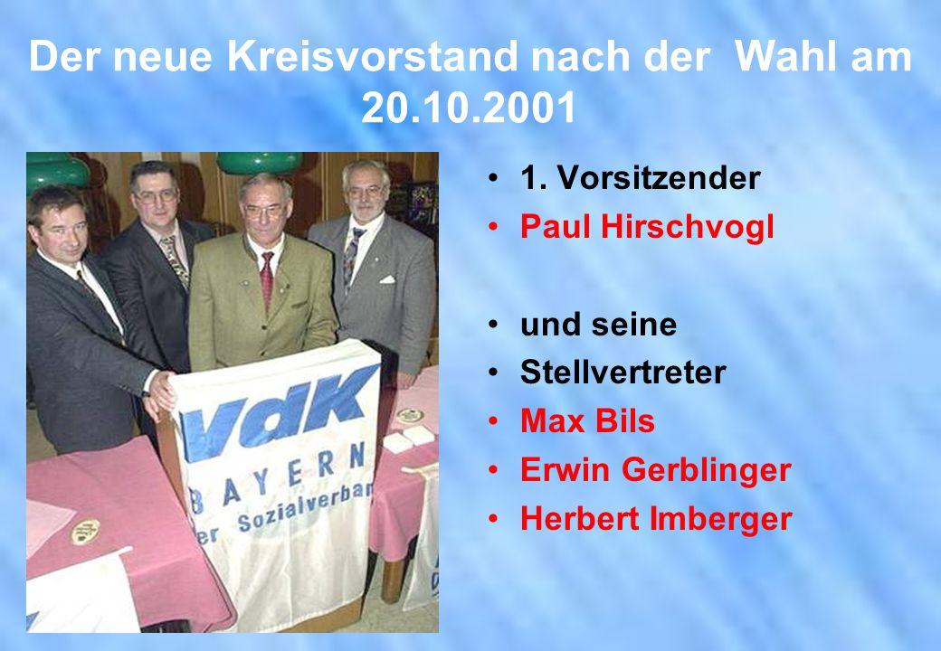 Der neue Kreisvorstand nach der Wahl am 20.10.2001
