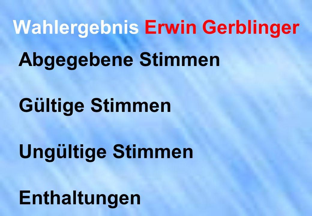 Wahlergebnis Erwin Gerblinger