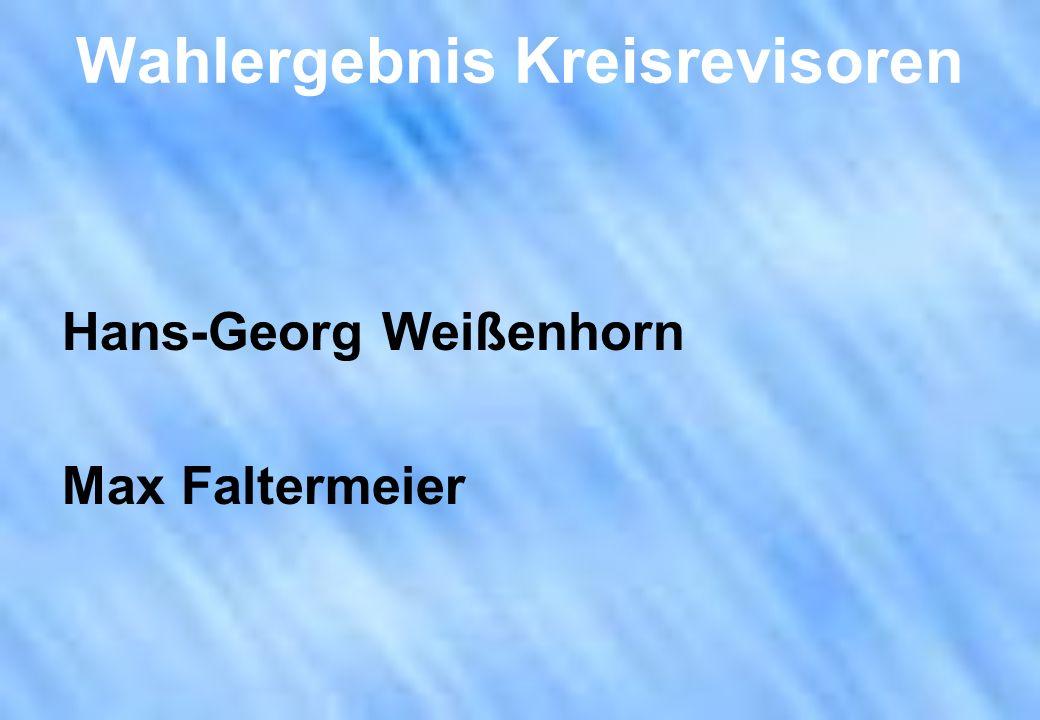 Wahlergebnis Kreisrevisoren