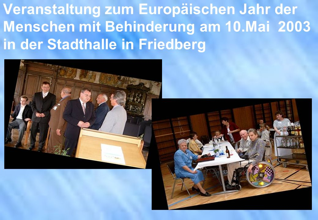 Veranstaltung zum Europäischen Jahr der Menschen mit Behinderung am 10