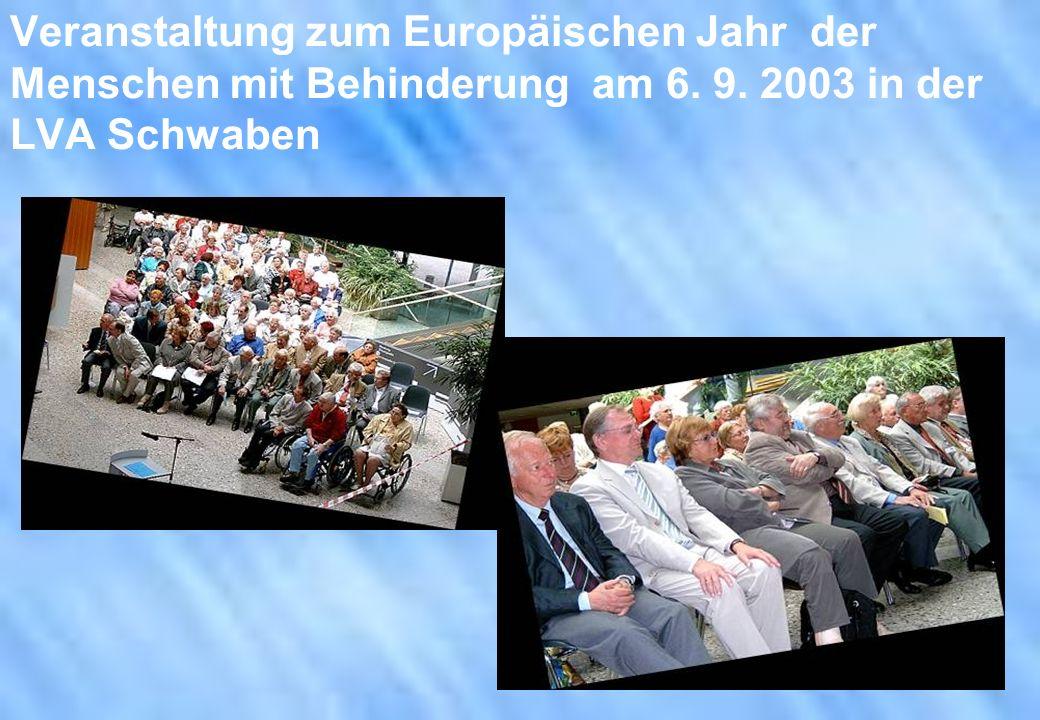 Veranstaltung zum Europäischen Jahr der Menschen mit Behinderung am 6