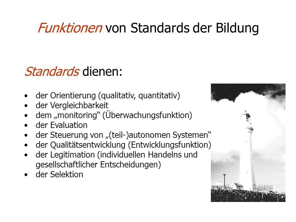 Funktionen von Standards der Bildung