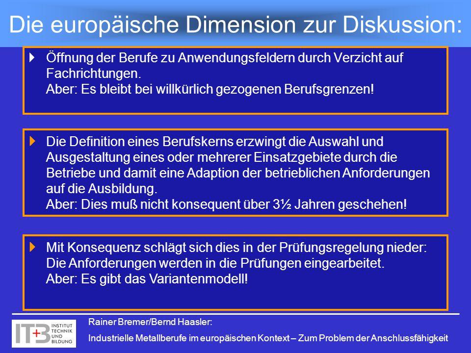 Die europäische Dimension zur Diskussion: