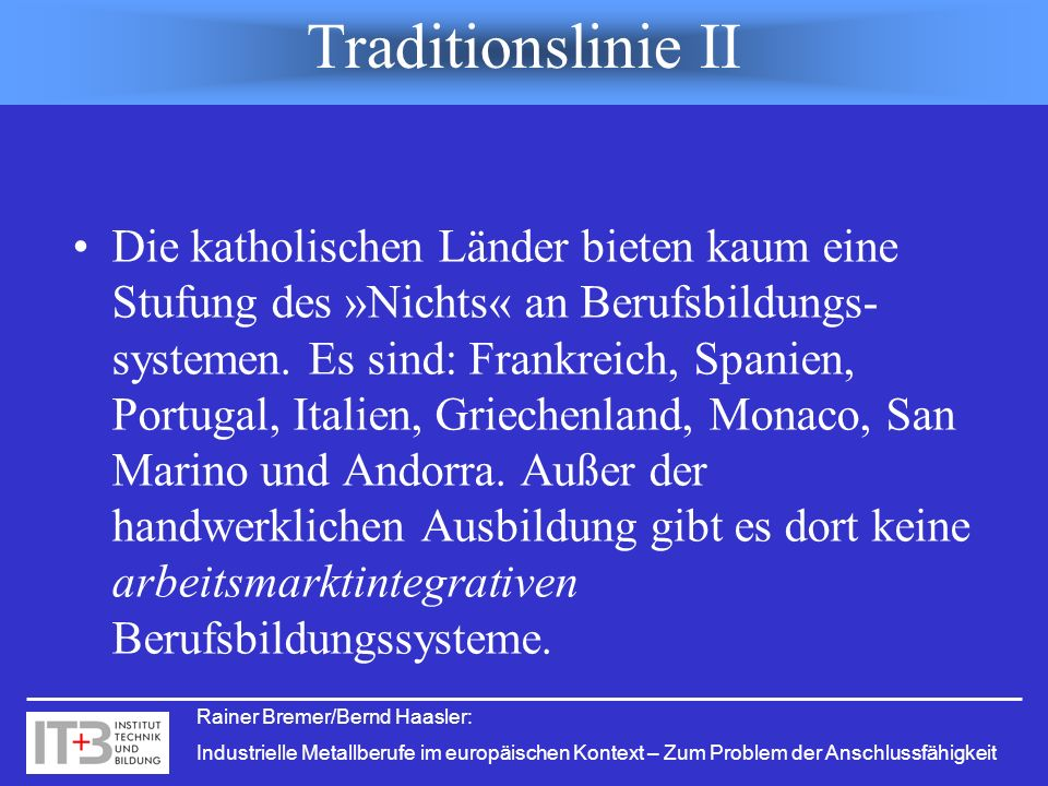 Traditionslinie II