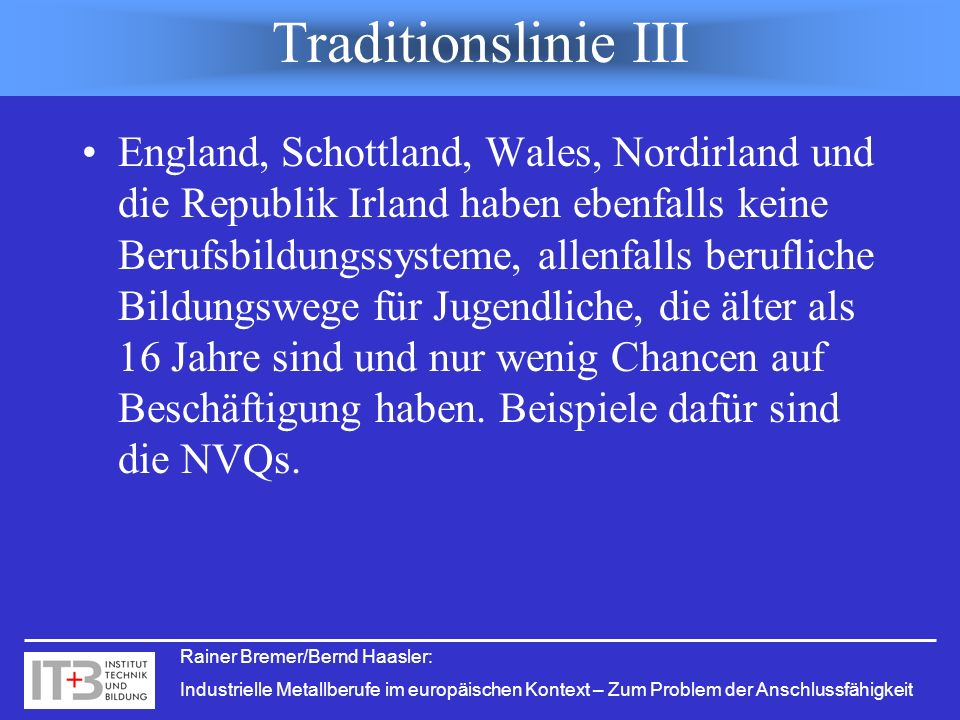Traditionslinie III