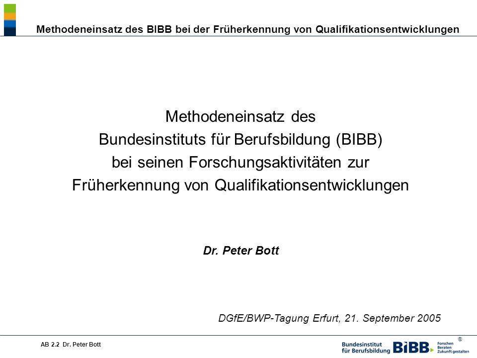 Bundesinstituts für Berufsbildung (BIBB)