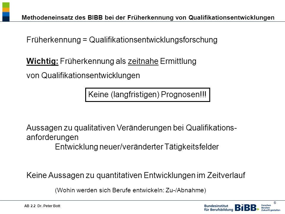 Früherkennung = Qualifikationsentwicklungsforschung